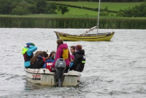 Fodhla Summer Camp Lough Lene Grainne taking out the BP crews July 2015