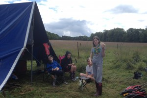 Fodhla Summer Camp Lough Lene Kate Connolly and her Watch enjoying lunch July 2015