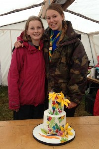 Fodhla Summer Camp Lough Lene Sibeal (16th) Fiona birthday cake (choc biscuit cake) July 2015