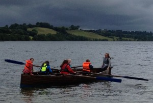 Fodhla Summer Camp Lough Lene Sunni Stroke Oar in Skiff July 2015