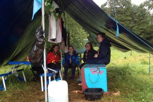 Fodhla Summer Camp Lough Lene Sunni with Watch Leader Una and other scouts July 2015
