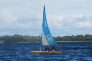Fodhla Summer Camp Lough Lene sailing a Pico with fair winds July 2015