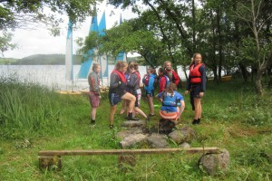 Fodhla Summer Camp Lough Lene waiting to launch the Picos July 2015