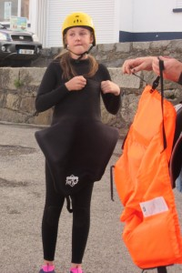 Don't think a life jacket will improve the outfit one bit!
